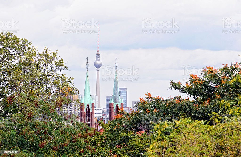 Tv Tower of Berlin Central at Alexanderplatz (Germany) royalty-free stock photo