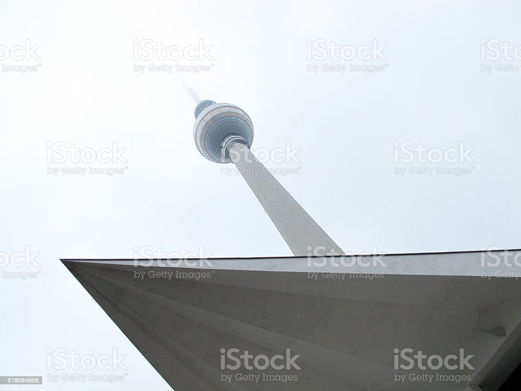 Tv Tower of Berlin Central at Alexanderplatz (Germany) stock photo