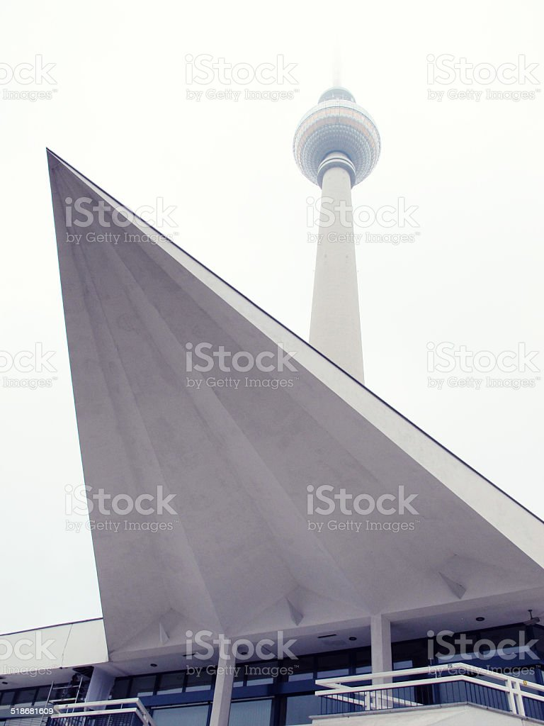 Tv Tower of Berlin Central stock photo