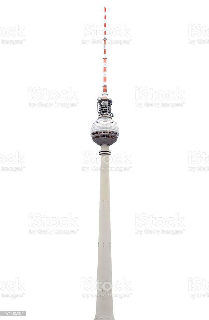 Tv tower or Fersehturm in Berlin isolated royalty-free stock photo