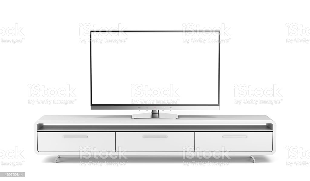 Tv with stand stock photo