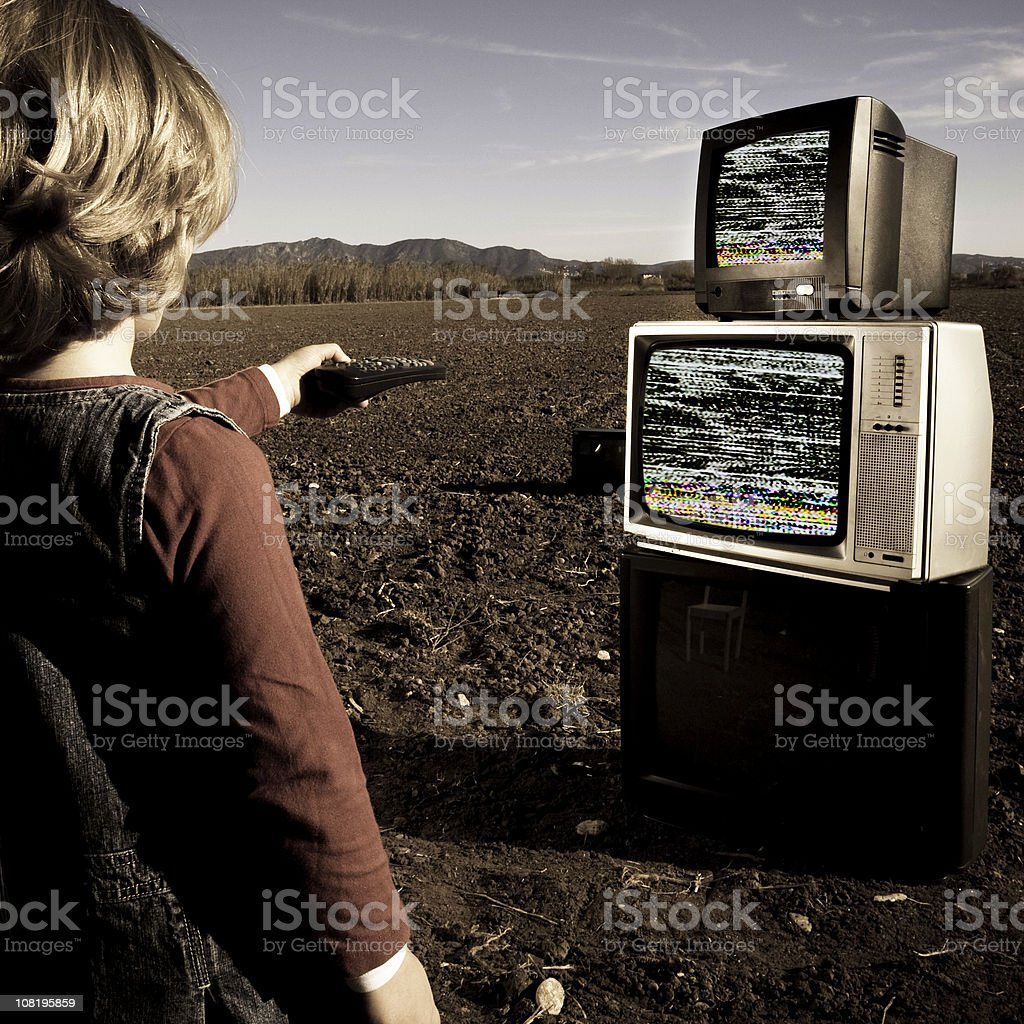 Tv zapping royalty-free stock photo
