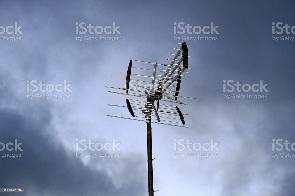 TV-antenna stock photo