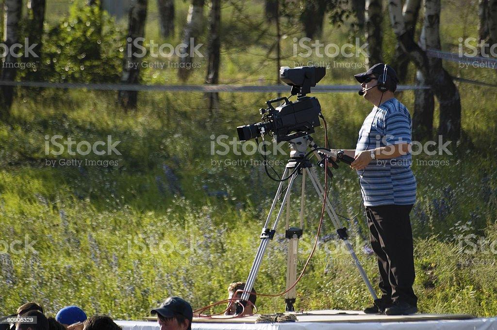TV-operator royalty-free stock photo