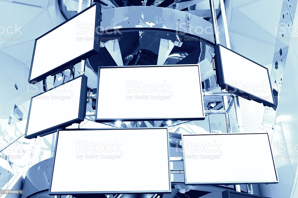 LCD TVs stock photo