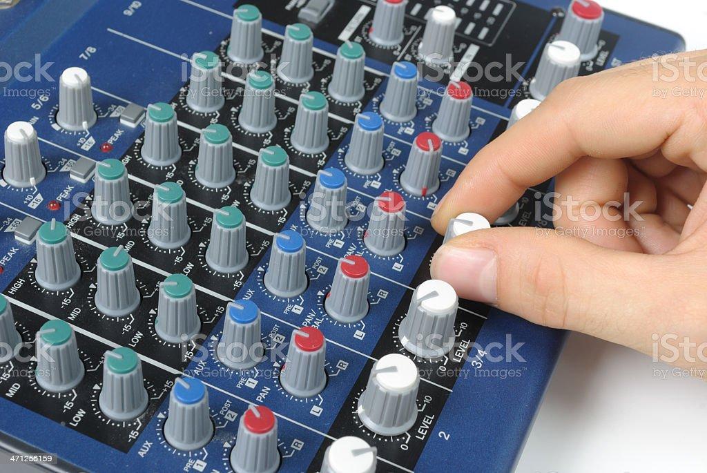 Tweaking Sound Board royalty-free stock photo