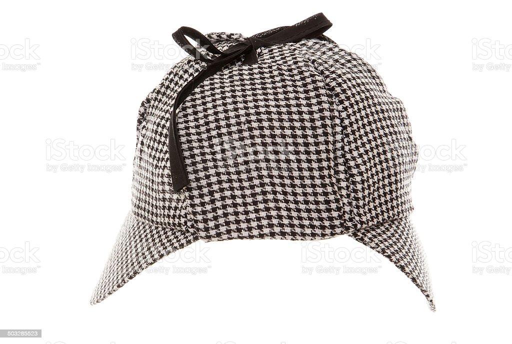 tweed deerstalker hat royalty-free stock photo