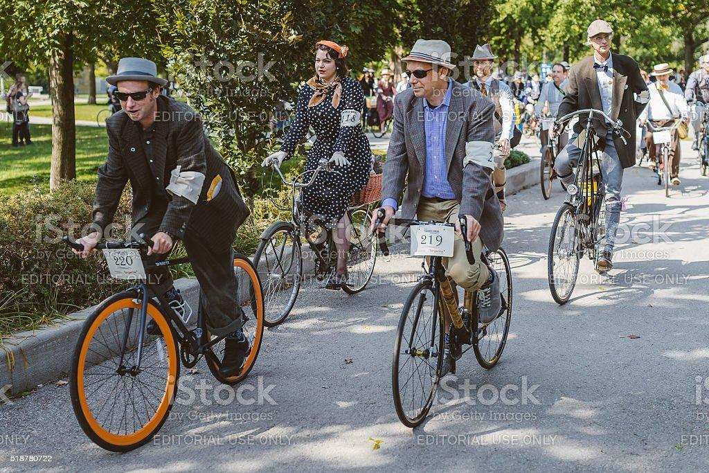 Toronto, Canada - September 20, 2014: Tweed Ride Toronto stock photo