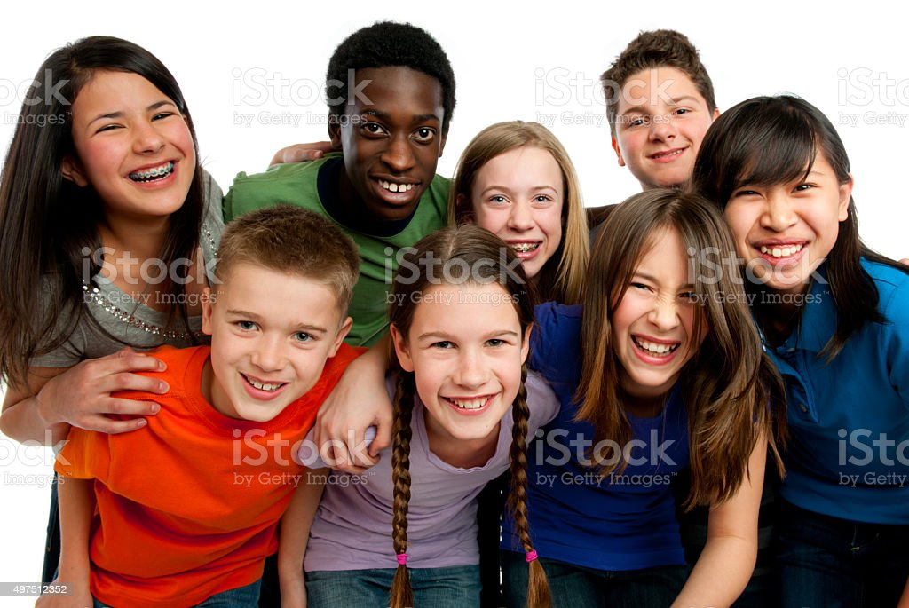 Tween group stock photo