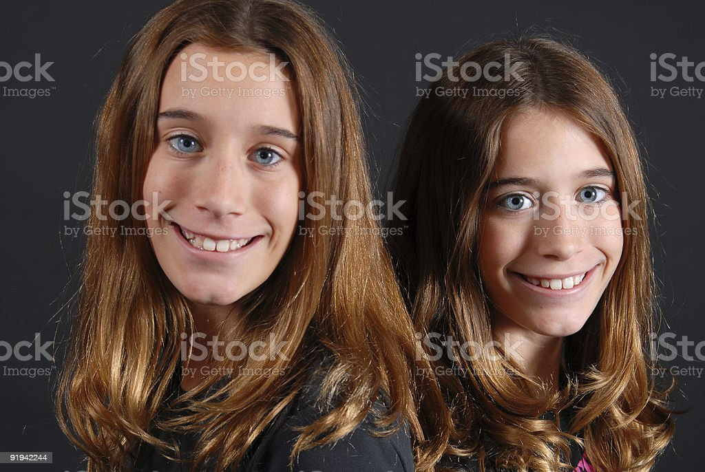 Tween Twins stock photo