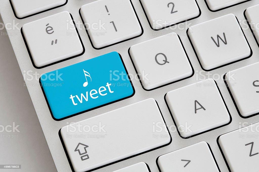Tweet stock photo