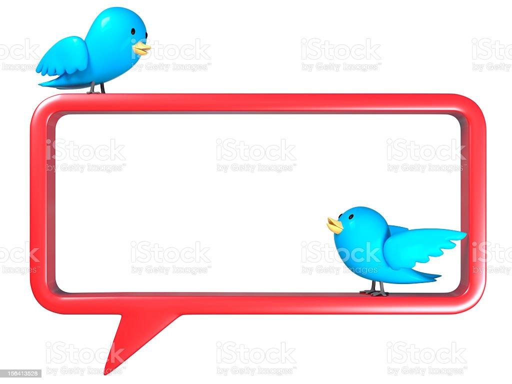 tweets on speech bubble stock photo