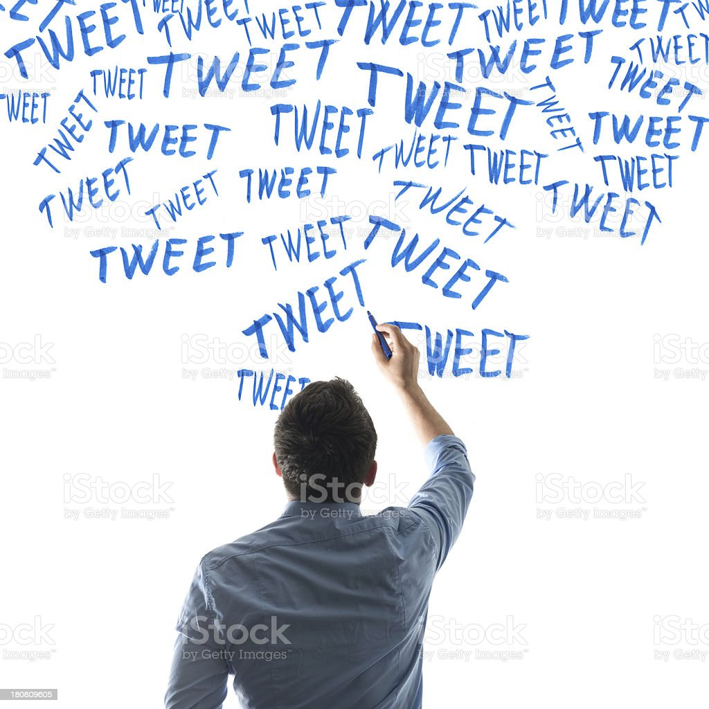 Tweets royalty-free stock photo