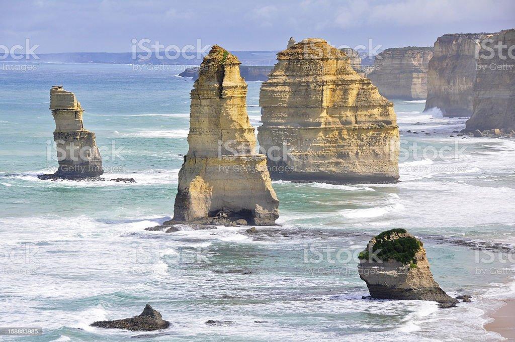 Twelve Apostles along Great Ocean Road, Victoria royalty-free stock photo