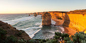 Twelve Apostles at sunset.  Port Campbell National Park. Australia