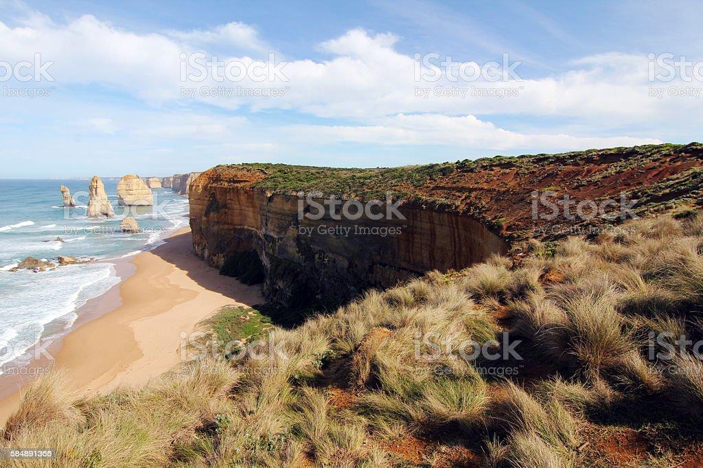 Twelve Apostles at the great ocean road stock photo