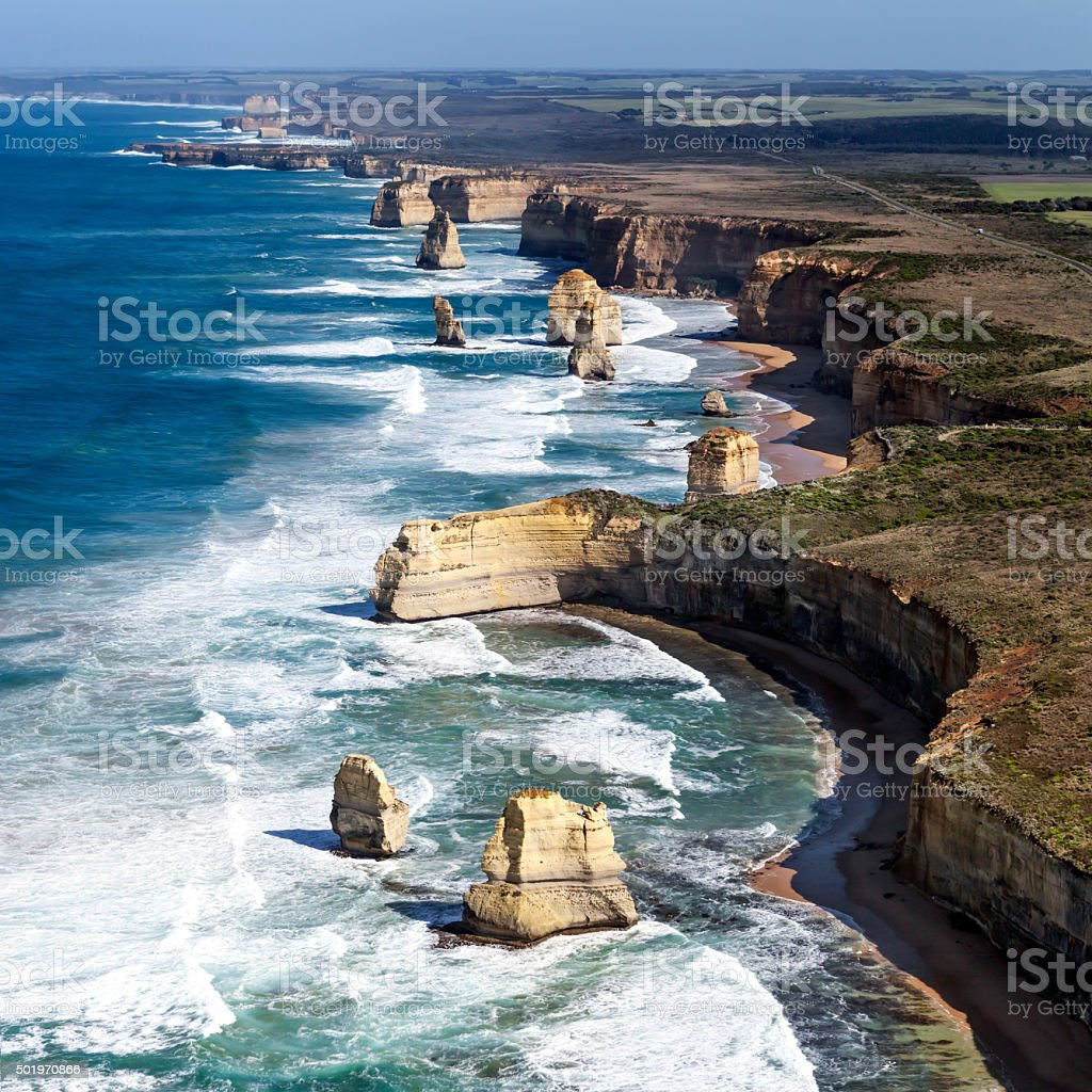 Twelve Apostles Australia from the Air stock photo