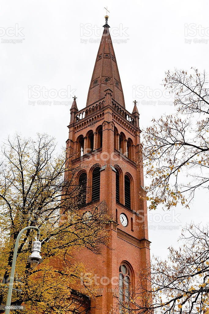 Twelve Apostles Church in Berlin stock photo