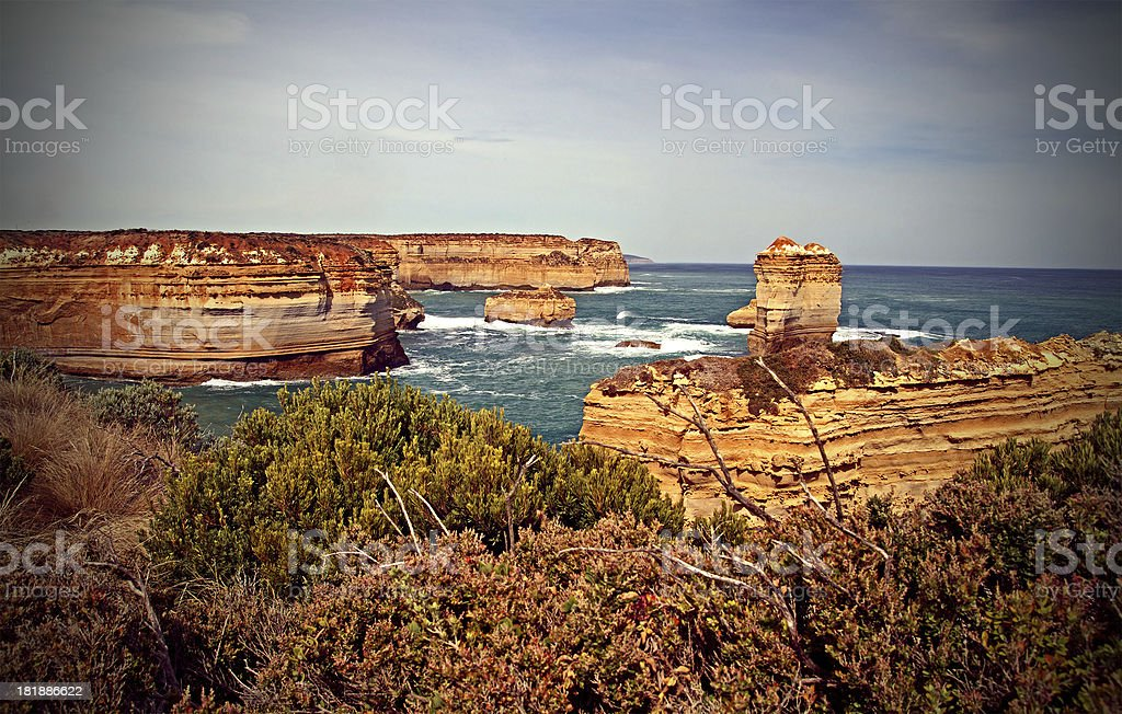Twelve Apostles Coastal Area royalty-free stock photo
