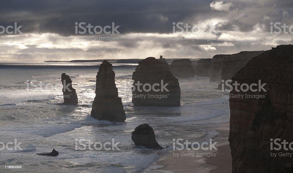 Twelve Apostles in Australia royalty-free stock photo
