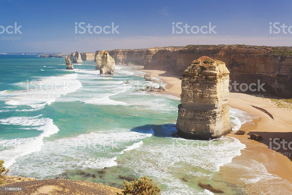 Twelve Apostles in Australia stock photo