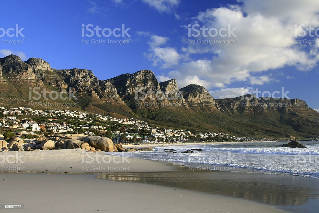 Twelve Apostles in Camps Bay, Cape Town, South Africa stock photo