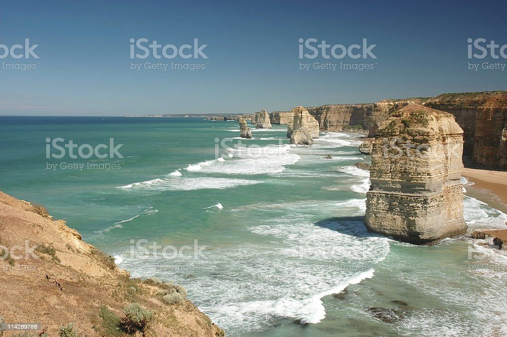 Twelve Apostles Look Out, Australia royalty-free stock photo