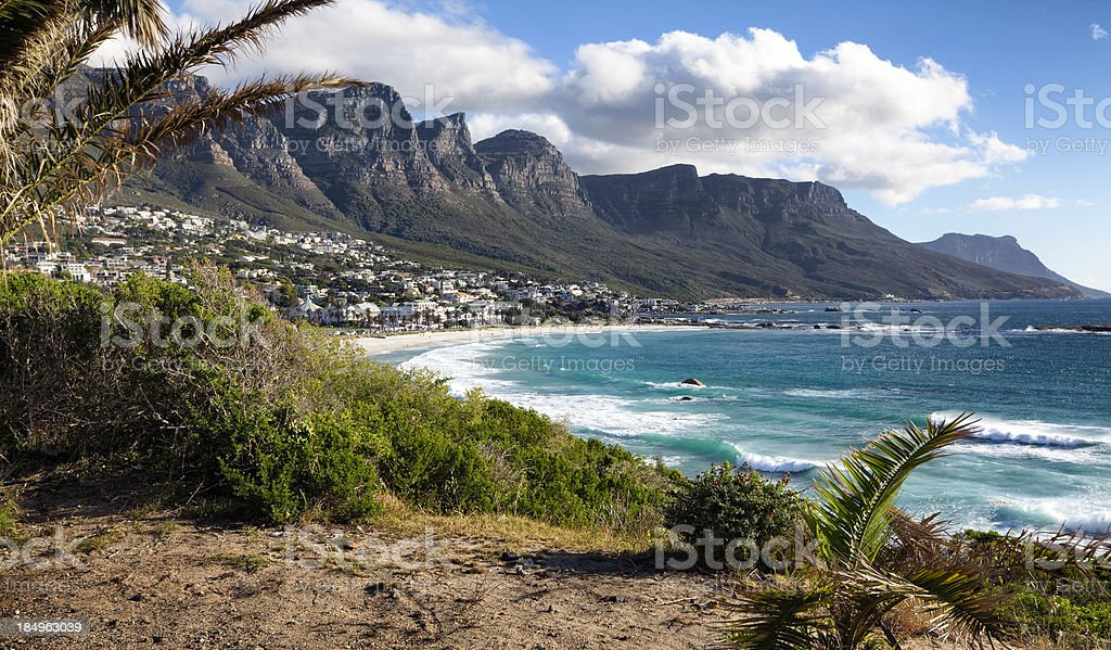 Twelve Apostles mountains, Cape Town stock photo