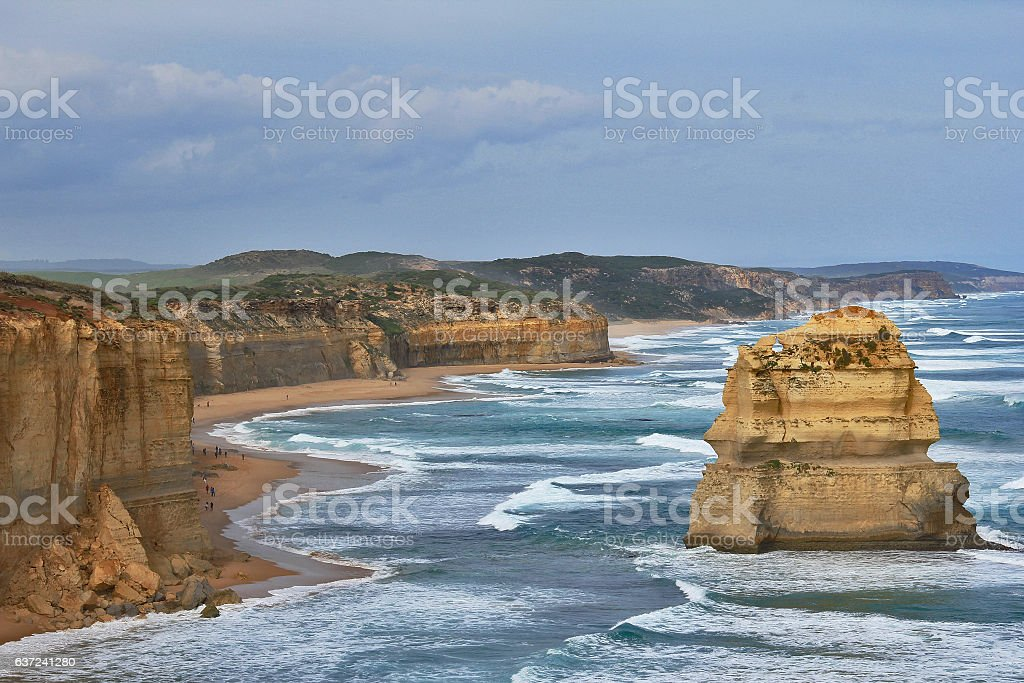 Twelve Apostles rock formations ,Victoria Australia stock photo
