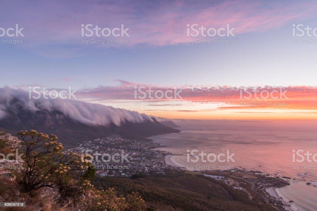 Twelve Apostles - Table Mountain, Cape Town stock photo