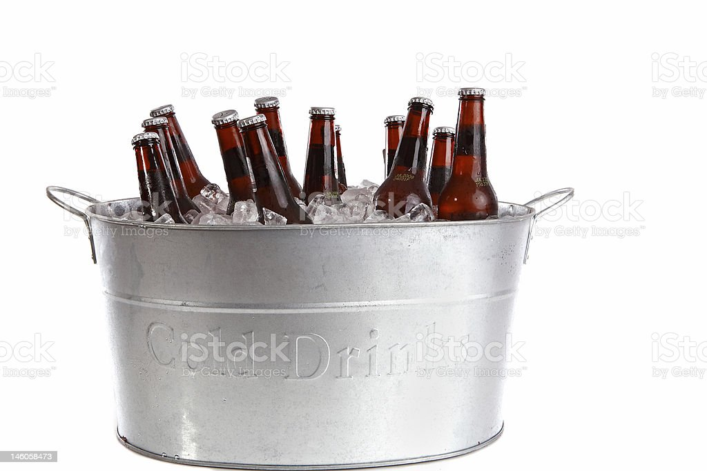 Twelve bottles of beer stock photo