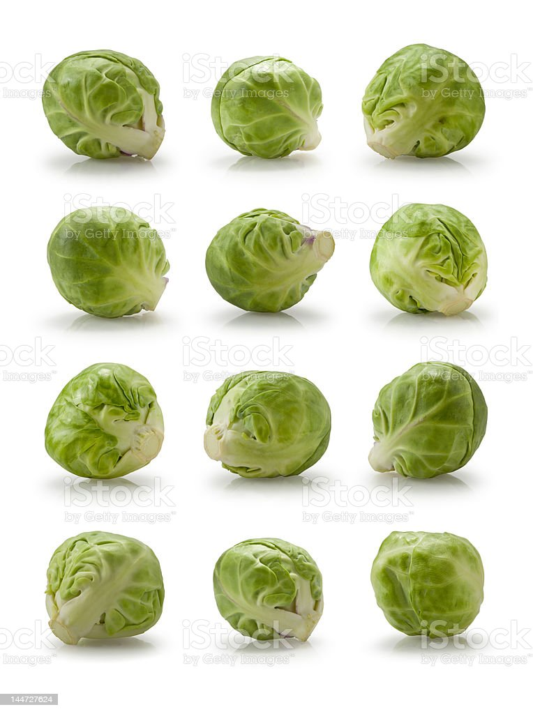 Twelve brussels sprouts royalty-free stock photo