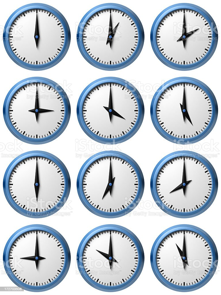 Twelve hours royalty-free stock photo
