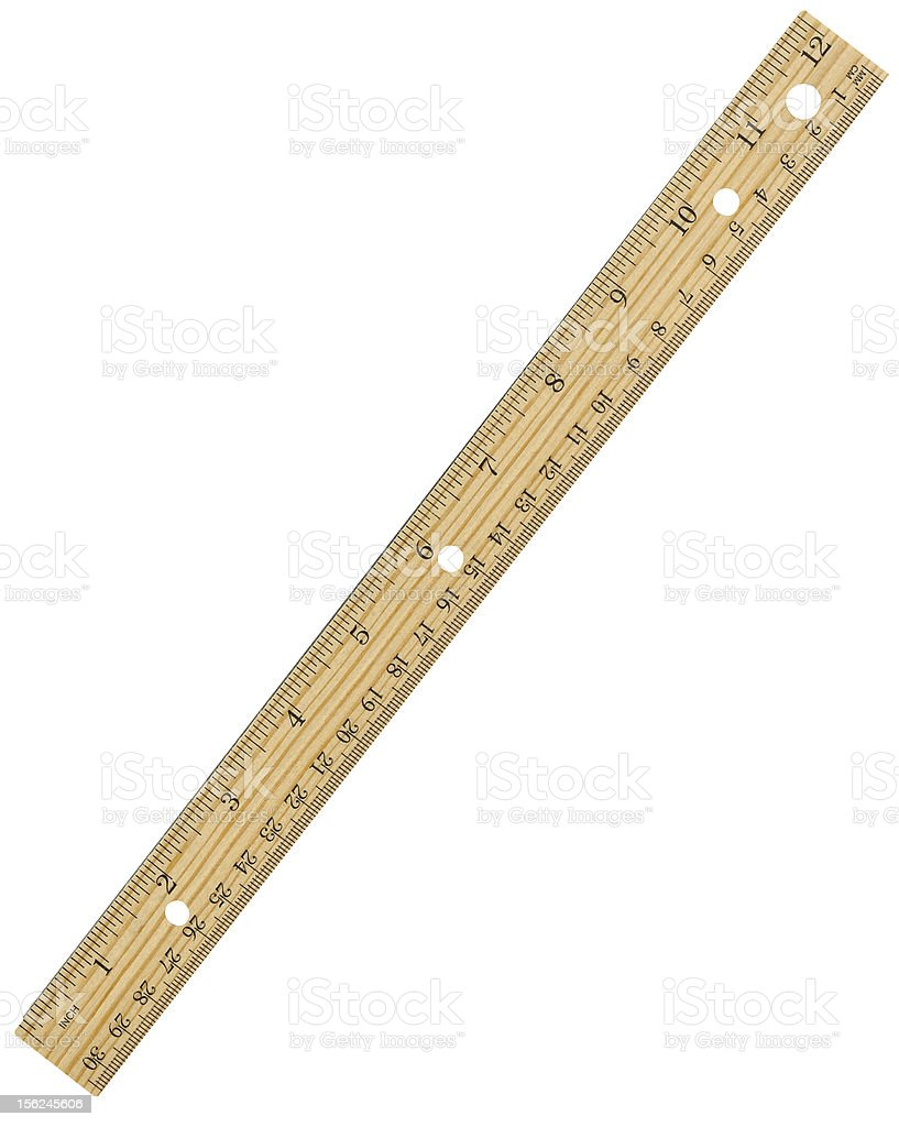 Twelve Inch Ruler royalty-free stock photo