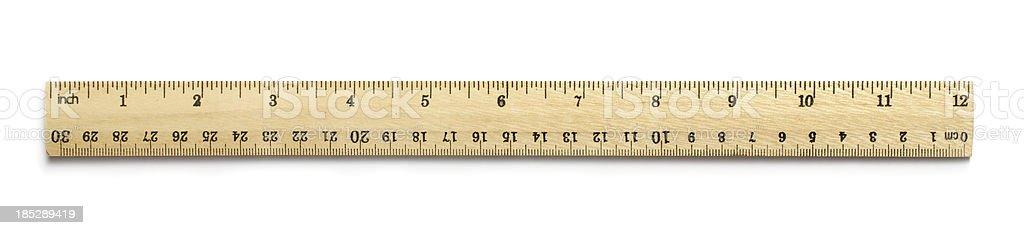 Twelve inch ruler stock photo
