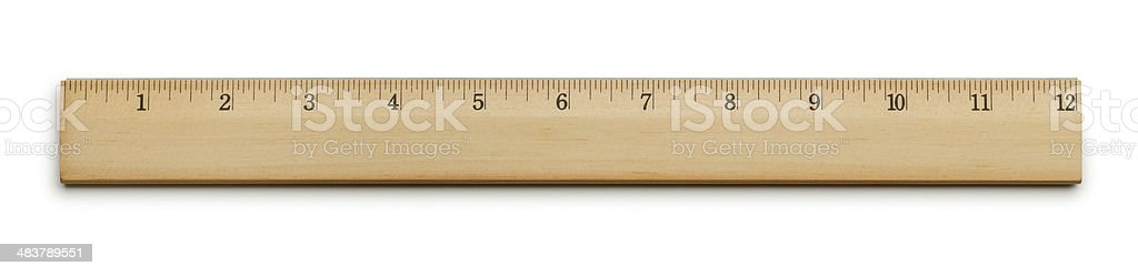 Twelve Inch Ruler stock photo
