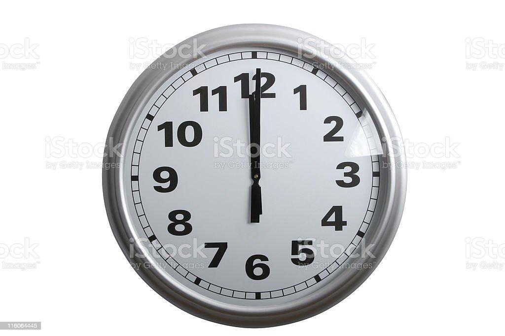 twelve o'clock royalty-free stock photo