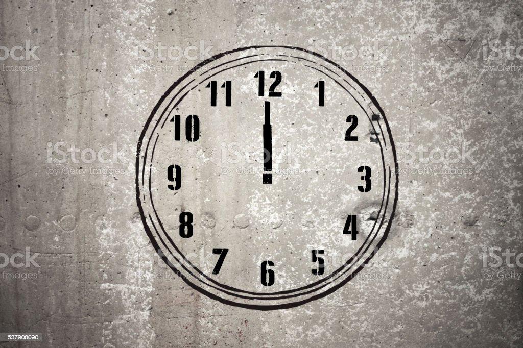 Twelve o'clock - Stock Image stock photo