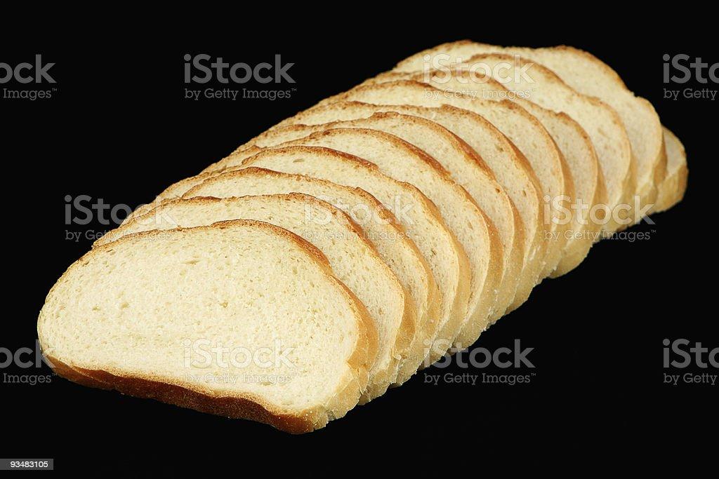 Twelve slices of bread stock photo