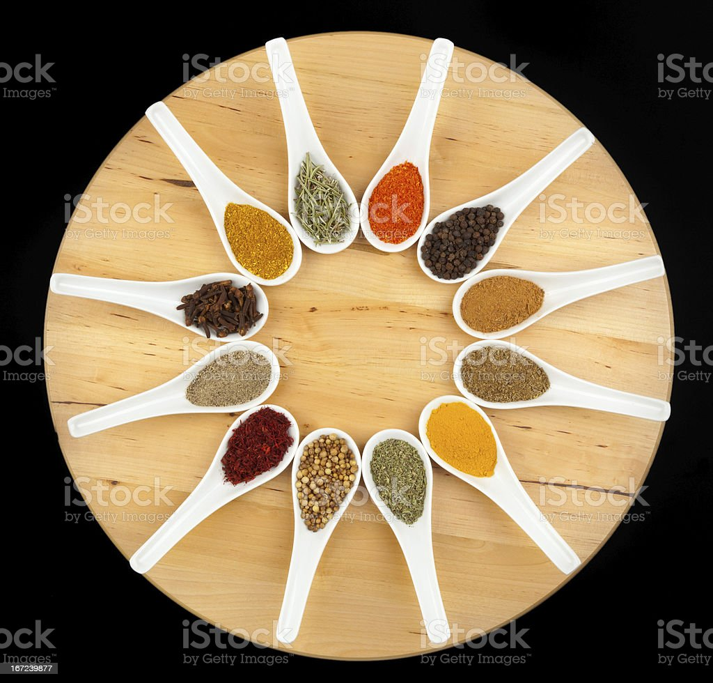 Twelve spices royalty-free stock photo