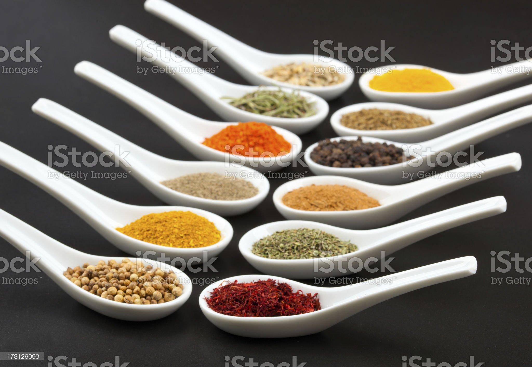 Twelve spices royalty-free stock photo