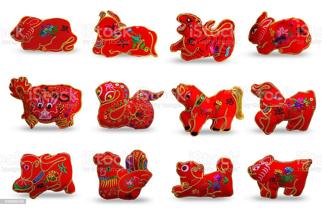 twelve zodiacs stock photo