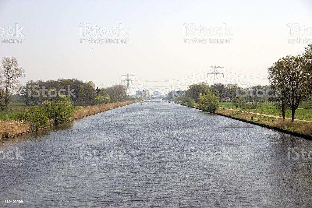 Twente canal na Holanda. foto de stock royalty-free