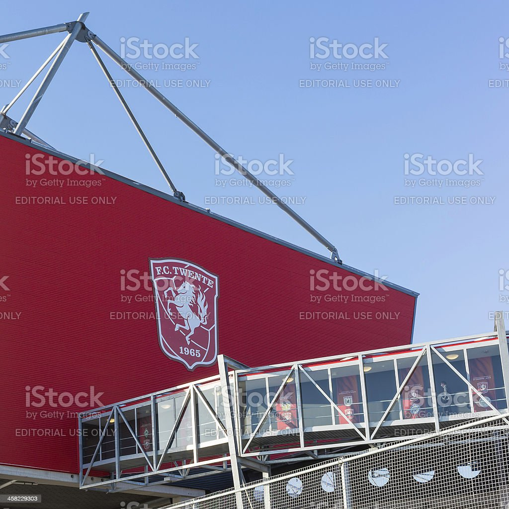 FC Twente soccer stadium in Enschede royalty-free stock photo