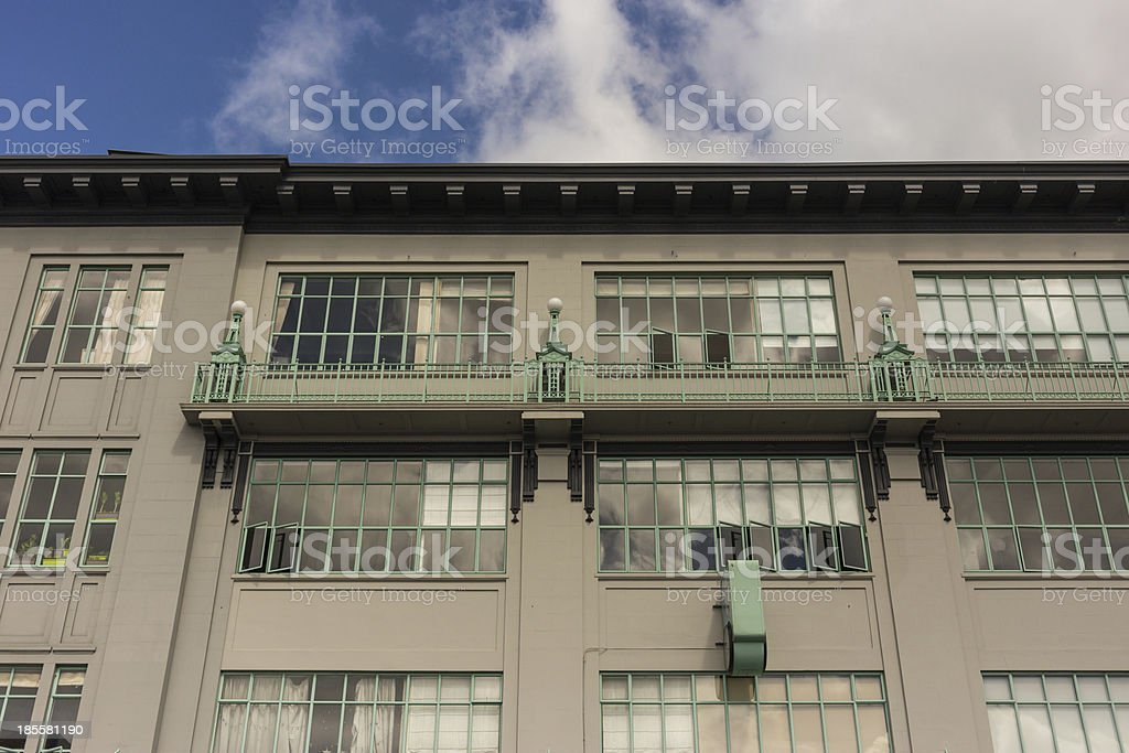Twenties/thirties apartment building front royalty-free stock photo
