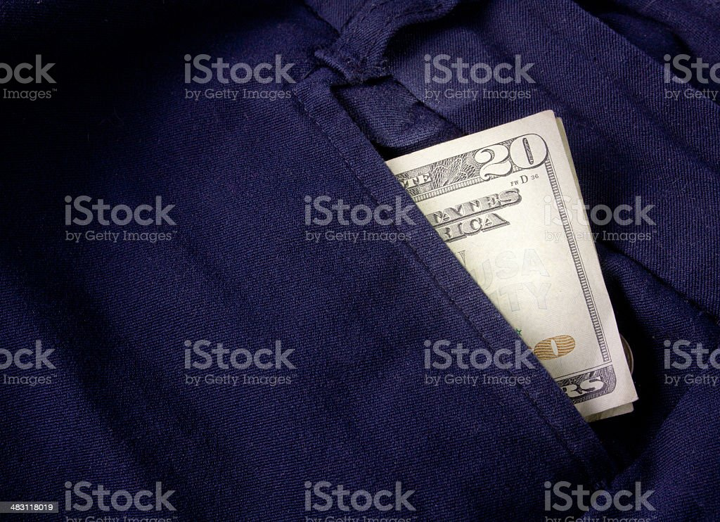 Twenty Bill Folded royalty-free stock photo