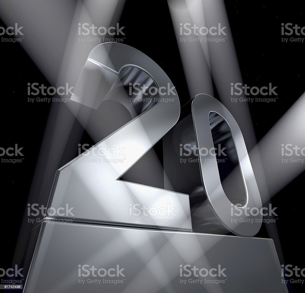 twenty celebration monument 20 stock photo