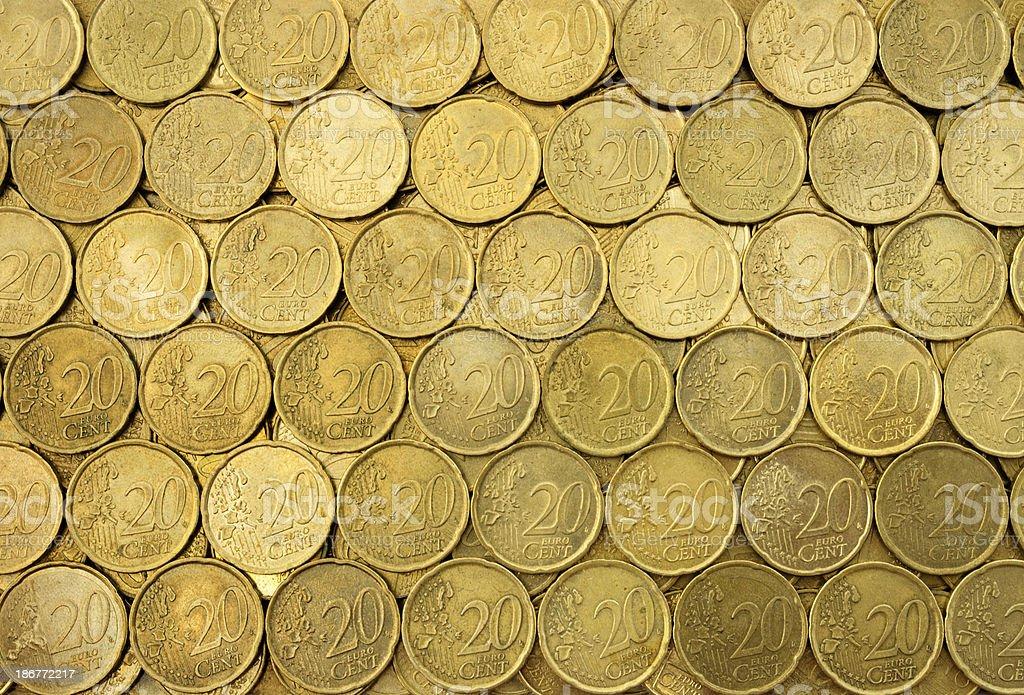 Twenty Cents Euro stock photo