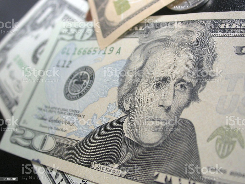 Twenty Dollar Bill - $20 stock photo