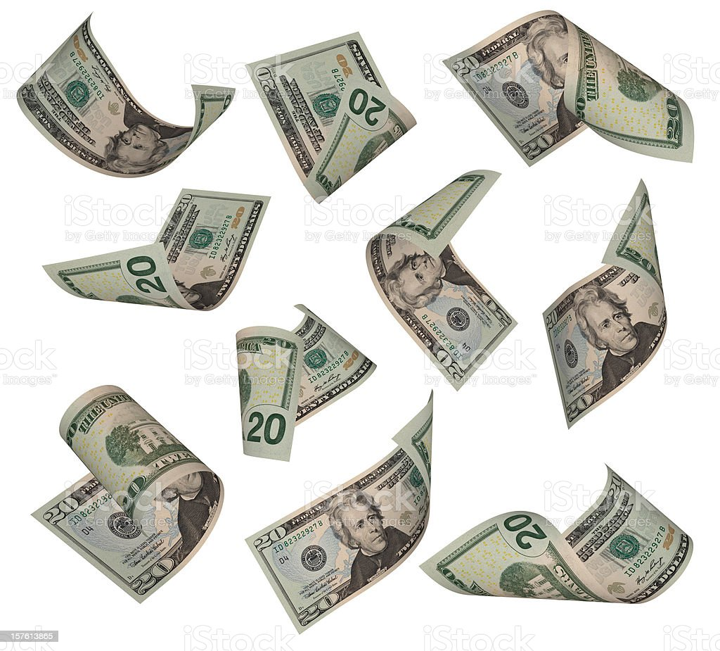 Twenty Dollar Bill stock photo